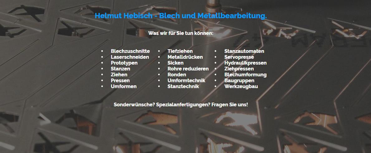 Metalldrückerei Herrenberg - Hebisch - CNC Blech und Metallbearbeitung: Metallpresserei, Laserbearbeitung, Blechbearbeitung, Laserschneiden, Rundgewinde
